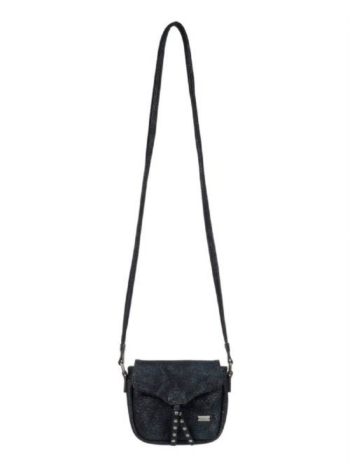 ROXY WOMENS BAG.FROM MY HEART BLACK FAUX LEATHER SHOULDER CROSS BODY 7W 61 KVJO